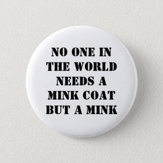 Mink Coat 2 Inch Round Button