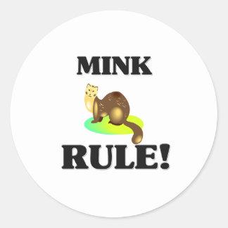 MINK Rule! Classic Round Sticker
