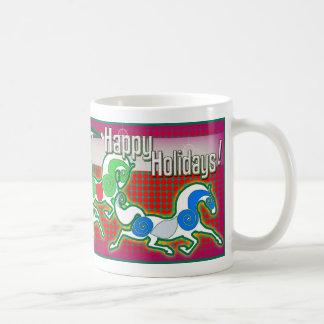 MinkMug Holiday Horses for Christmas Coffee Mug