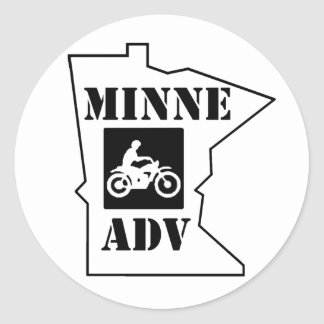 MinneADV Circle Sticker