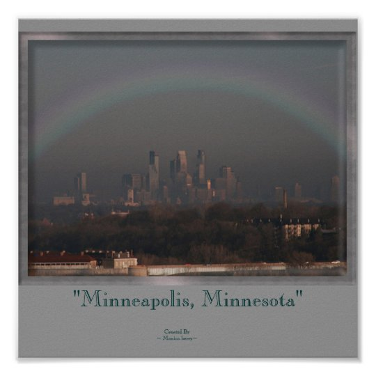 Minneapolis and the Rainbow Poster