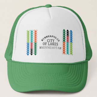 minneapolis city of lakes nice view Design Trucker Hat