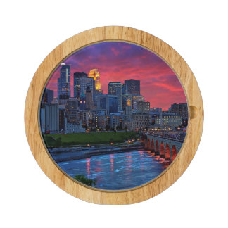 Minneapolis Eye Candy Rectangular Cheeseboard