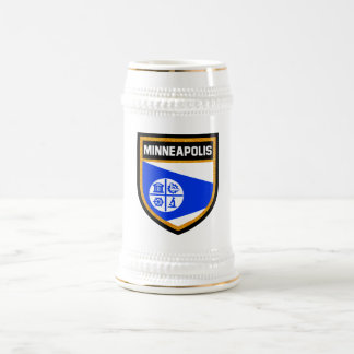 Minneapolis Flag Beer Stein