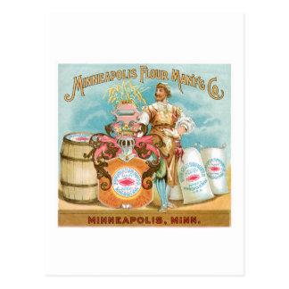 Minneapolis Flour Vintage Food Ad Art Postcard