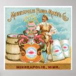 Minneapolis Flour Vintage Food Ad Art Poster