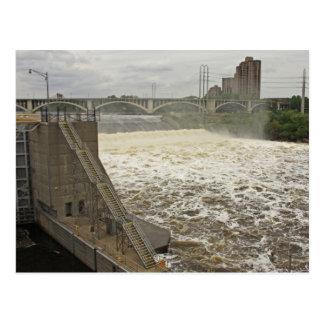Minneapolis Lock and Dam Postcard