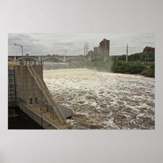 Minneapolis Lock and Dam Poster