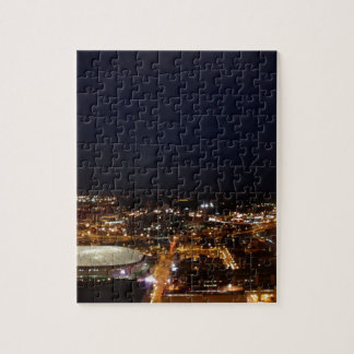 Minneapolis Minnesota City Skyline and Metrodome Jigsaw Puzzle