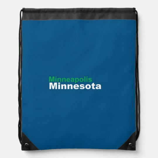 Minneapolis, Minnesota Drawstring Backpack