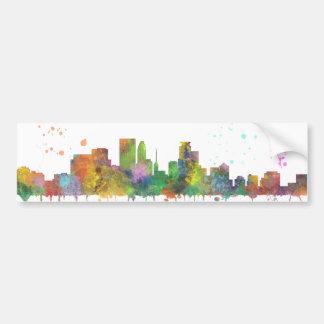 MINNEAPOLIS, MINNESOTA SKYLINE - Car Bumper Sticke Bumper Sticker