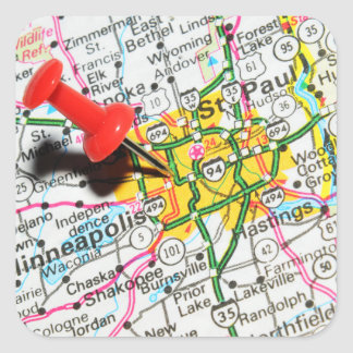 Minneapolis, Minnesota Square Sticker