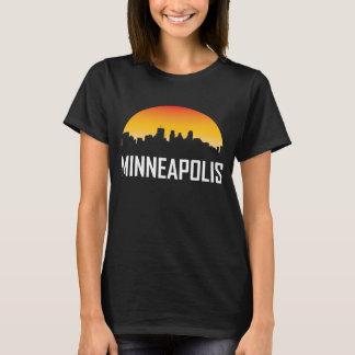Minneapolis Minnesota Sunset Skyline T-Shirt