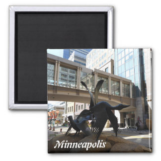 Minneapolis Nicollet Mall Photo Magnet Skyway