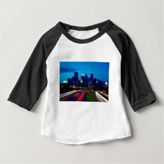 Minneapolis Night Skyline Baby T-Shirt