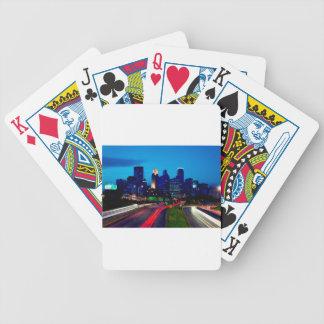 Minneapolis Night Skyline Bicycle Playing Cards