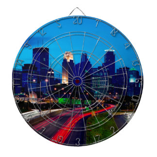 Minneapolis Night Skyline Dartboard