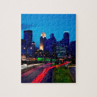 Minneapolis Night Skyline Jigsaw Puzzle