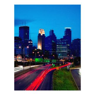 Minneapolis Night Skyline Letterhead