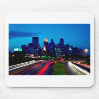 Minneapolis Night Skyline Mouse Pad
