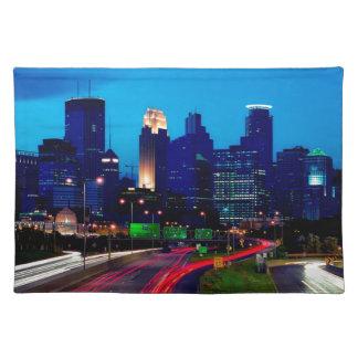 Minneapolis Night Skyline Placemat
