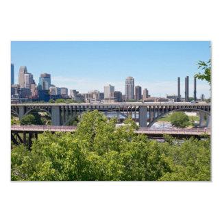 Minneapolis Skyline and Bridges Card