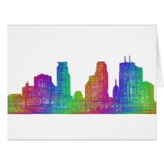 Minneapolis skyline card