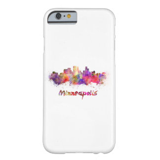 Minneapolis skyline in watercolor barely there iPhone 6 case