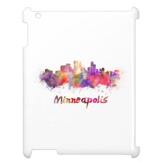 Minneapolis skyline in watercolor case for the iPad 2 3 4