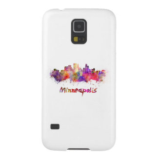Minneapolis skyline in watercolor galaxy s5 case