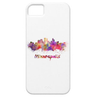 Minneapolis skyline in watercolor iPhone 5 case