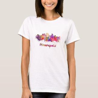 Minneapolis skyline in watercolor T-Shirt