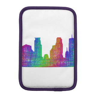 Minneapolis skyline iPad mini sleeve