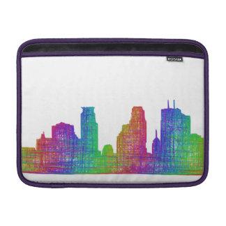 Minneapolis skyline MacBook air sleeves