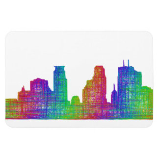 Minneapolis skyline magnet
