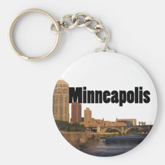 Minneapolis Skyline with Minneapolis in the Sky Keychain