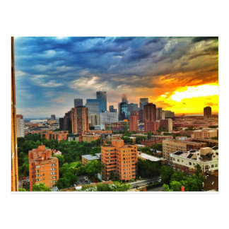 Minneapolis Storm Postcard