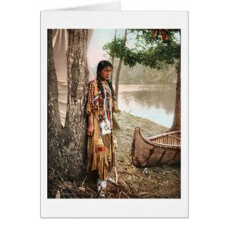 Minnehaha 1897 Native American Hiawatha Vintage Card