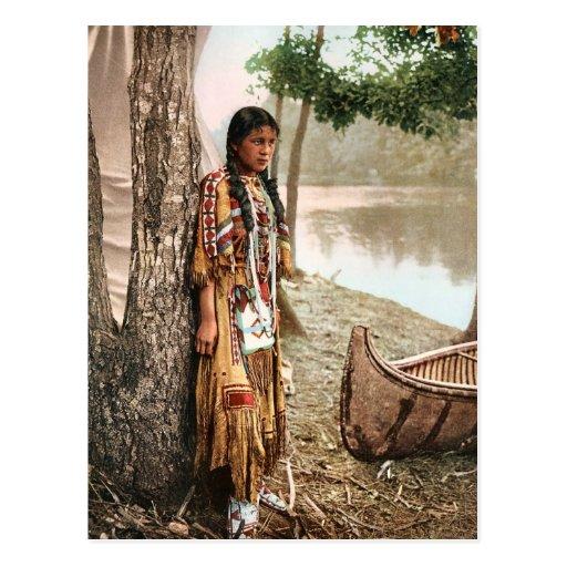 Minnehaha 1897 Vintage Native American Hiawatha Post Cards