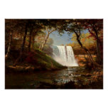 Minnehaha Falls, an Albert Bierstadt artwork Poster