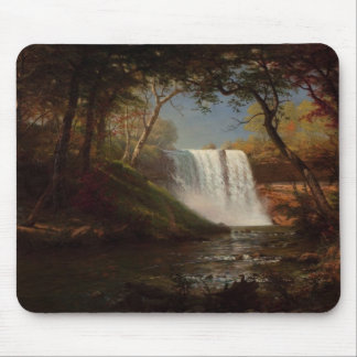 Minnehaha Falls by Alfred Bierstadt Mouse Pad