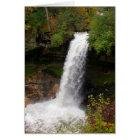 Minnehaha Falls in autumn Card