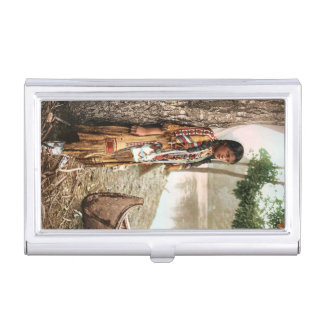 Minnehaha Vintage Native American Business Card Holder