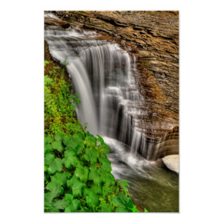 Minneheha Falls, Watkins Glen, New York Poster