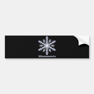 Minnesnowta Blue Snowflake Bumper Sticker