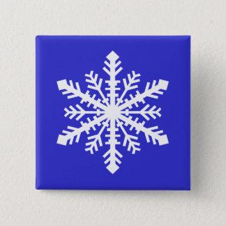 Minnesnowta Snowflake 2 Inch Square Button