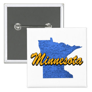 Minnesota 2 Inch Square Button