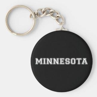 Minnesota Basic Round Button Keychain