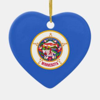 Minnesota Ceramic Heart Ornament