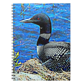 Minnesota Common Loon Spiral Notebook